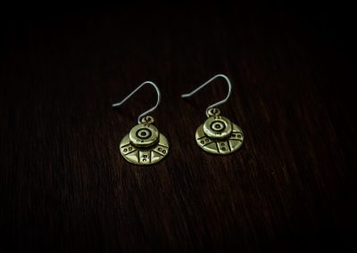 AEB3 - bullet earrings