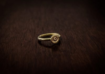 ARB - brass bullet ring