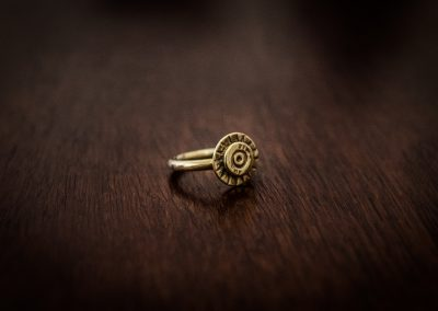 ARB2 - brass bullet ring