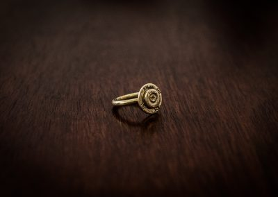 ARB3 - brass bullet ring