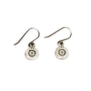 Silver bullet earrings